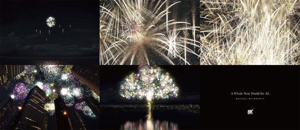ROBOTによる8K×HDR×フルCG映像。「Fireworks Tree 光の世界樹」によせて
