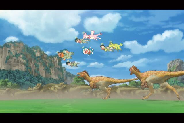 恐竜が図鑑の挿絵のようなルックで活き活きと動き回る『映画ドラえもん のび太の新恐竜』