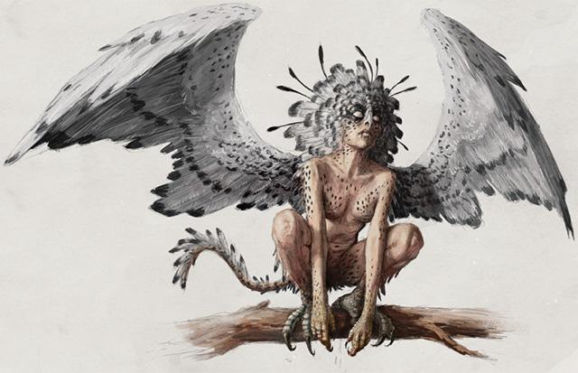 世界のアーティストたちによるモンスター&クリーチャーの描き方〜鳥のフォームをした風の悪魔「ハーピー」〜