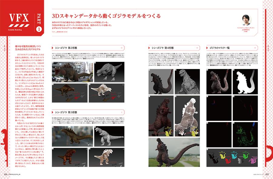 3Dスキャンデータから動くゴジラモデルをつくる