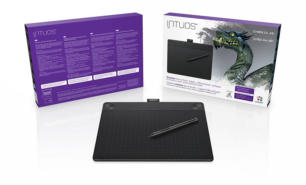 ZBrushCoreを搭載した「Intuos 3D」が発売。より気軽なデジタルモデリングが可能に(ワコム)